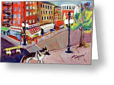 Queenie On Forsythe Street Manhattan Nyc Greeting Card