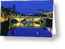 Queens Street Bridge, River Liffey Greeting Card