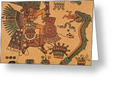 Quetzalcoatl, Aztec Feathered Serpent Greeting Card