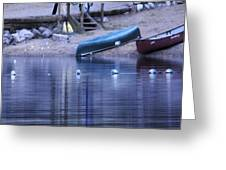 Quiet Canoes Greeting Card