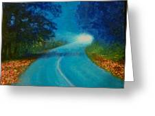 Quiet Road Home Greeting Card
