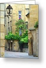 Quiet Street In Sarlat Greeting Card