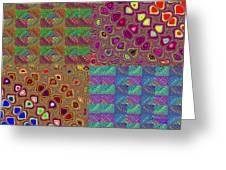 Quilted Fractals Greeting Card