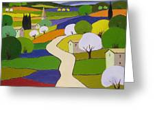 Quilted Landscape II Greeting Card