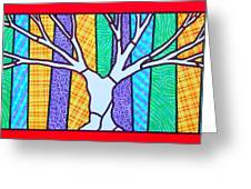 Quilted Winter Tree Greeting Card