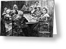 Quilting Party, 1864 Greeting Card