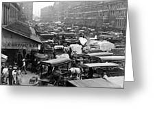 Quincy Market From Faneuil Hall - Boston - C 1906 Greeting Card