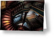 Qvb Stairs Greeting Card