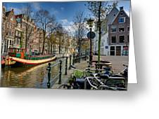 Raamgracht And Groenburgwal. Amsterdam Greeting Card