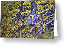 Rabbit In Brush Greeting Card