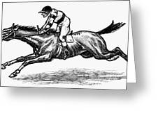 Race Horse, 1900 Greeting Card