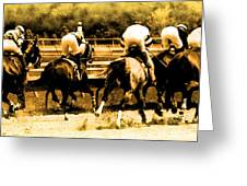 Race To The Finish Line Greeting Card