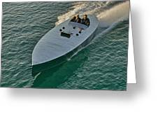 Raceboat Mercury Greeting Card