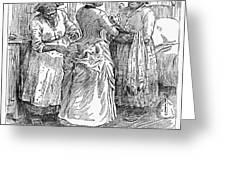 Racial Caricature, 1886 Greeting Card