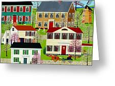 Racing To Windmill Point Greeting Card