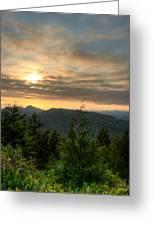 Radar Hill Sunset - Tofino Bc Canada Greeting Card