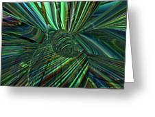 Radiant Digital Floral Fx  Greeting Card