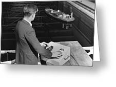 Radio-controlled Model Tug, 1955 Greeting Card