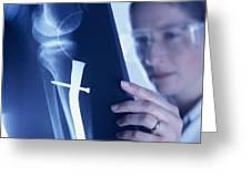 Radiologist Greeting Card by Tek Image