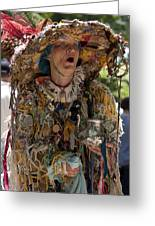 Rag Lady Begging Greeting Card