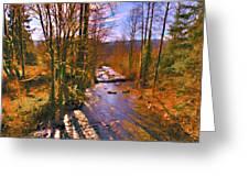 Raging River Near Preston Greeting Card