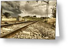 Rail Contrasts Greeting Card
