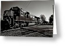 Rail Crossing Greeting Card