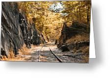 Rail Road Cut Greeting Card