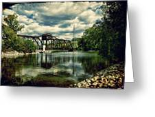 Rail Swing Bridge Greeting Card