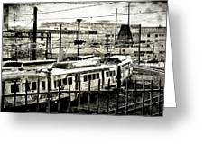Rail Yard Blues Greeting Card