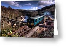 Railcar At Berwyn Greeting Card