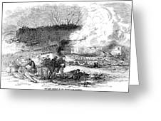 Railroad Accident, 1853 Greeting Card