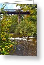 Railroad Bridge 7827 Greeting Card by Michael Peychich