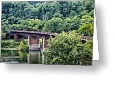Railroad Bridge At East Falls Philadelphia Greeting Card