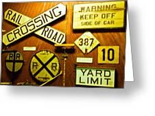 Railroad Talk Greeting Card