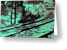 Railway - Schattenbild Siebdrucktechnik Greeting Card