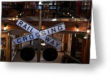Railway Crossing Greeting Card