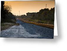 Railway Into Town Greeting Card