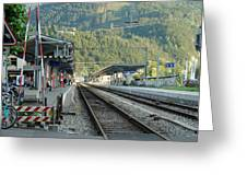 Railway Station West Interlaken Switzerland Greeting Card