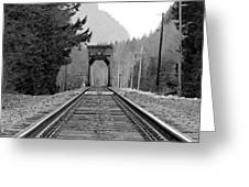Railway Track Greeting Card