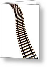 Railway Tracks Greeting Card by Bernard Jaubert