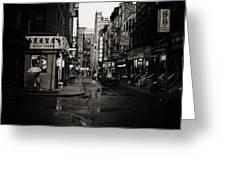 Rain - Pell Street - New York City Greeting Card