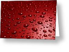 Rain Drops Bloody Red  Greeting Card