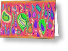 Rain Drops Greeting Card by Rosana Ortiz