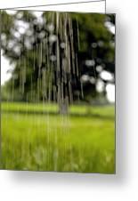 Rain Falling Greeting Card