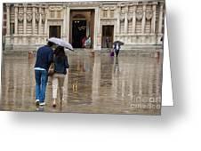Rain In London Greeting Card by Donald Davis