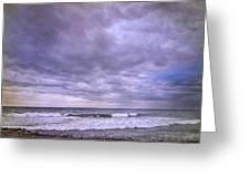 Rain Storm At The Sea Greeting Card
