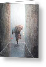 Rain Greeting Card by Terry Jackson