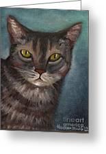 Rain The Cat Greeting Card by Kostas Koutsoukanidis