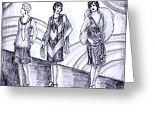 Rainbow 1920s Fashions Greeting Card